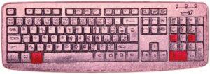 Zavináč na klávesnici