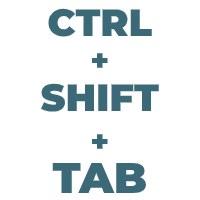 Ctrl Shift Tab