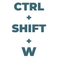 Ctrl Shift W